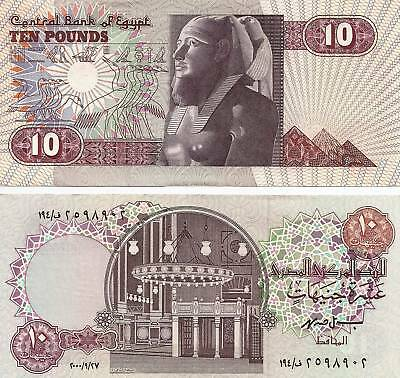 2000 Egypt 10 Pounds Uncirculated Crisp Egyptian Note