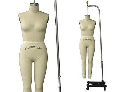 Professional Pro Female Working Dress form Mannequin Full Size 4 +ARM