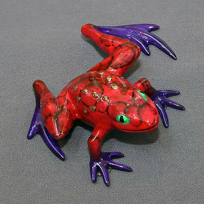 GORGEOUS BRONZE FROG FIGURINES STATUE  COLOR LIVE FROGS