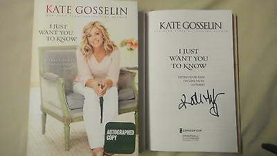 SIGNED I Just Want You To Know Kate Gosselin 1/1 BOOK