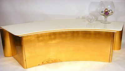 80s sideboard  GILDED AUTEL KONSOLE TISCH table gold gilded piano lacquered