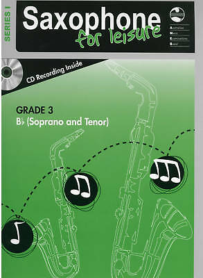 AMEB Saxophone For Leisure Series 1 Grade 3 Third B Flat Book & CD Tenor Soprano