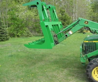 John Deere Tractor Loader Root Brush Grapple Bobcat