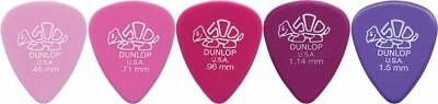 10 X Jim Dunlop DELRIN 500 MIXED Guitar Picks *NEW* 41R Starter Set / Beginner