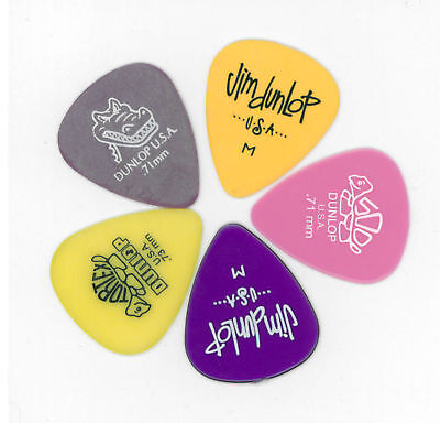10 X Jim Dunlop MIXED Medium Guitar Picks Starter Set / Beginner Plectrums