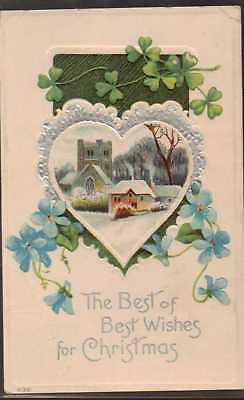 """Embossed Postcard, Early c1900,s  """"CHRISTMAS"""""""