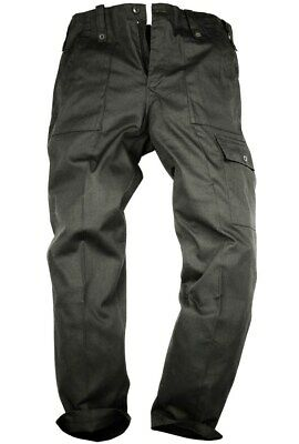 GENTS BLACK PARA TROUSERS MENS XL 38 R Military cargo bottoms cotton OG combats