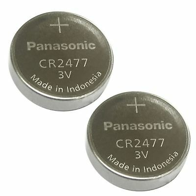 2 NEW PANASONIC CR2477 3V LITHIUM BATTERIES CR 2477 Expiration date 2026