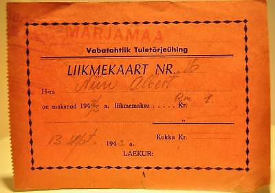 1943 Estonia in USSR Voluntary Fire Fighting Membership