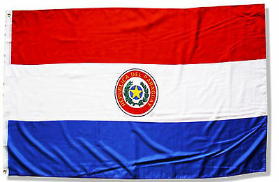 Fahne Paraguay Querformat 90 x 150 cm Hiss Flagge Nationalflagge Paraguay