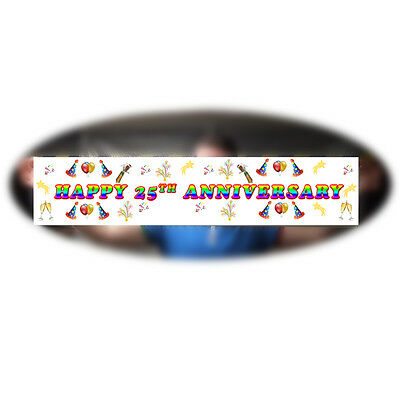 Personalised Anniversary Banner  ~ Colour Any occasion