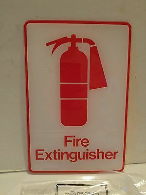 "Fire Extinguisher - 6"" x 9"" Acrylic Decal Sign Davsigns by Davson"