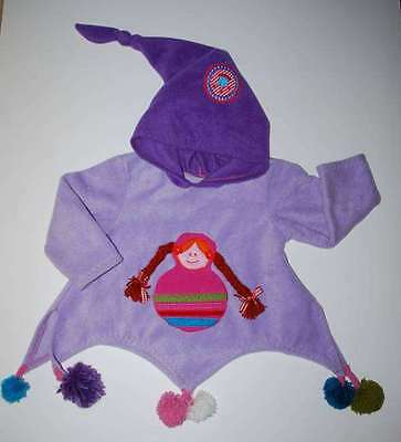 Boutique Polkadotz Peruvian Doll Fleece Hoodie 3T 4T