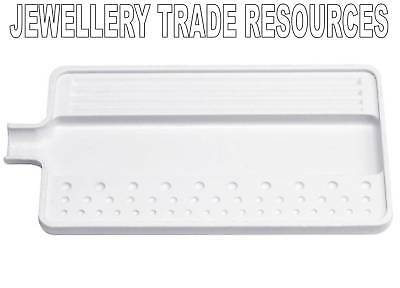 JEWELLERS PEARL & BEAD SORTING TRAY WHITE JEWELLERY MAKING 16.5cm x 9.5cm