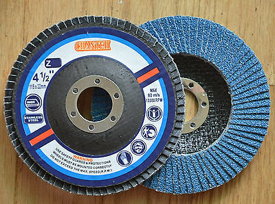 "100 FLAP DISCS 4-1/2"" x 7/8"" in 40 grit Grinding Wheel tool"