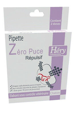 anti puce pour chaton pipettes répulsif HERY CHATON