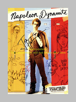 NAPOLEON DYNAMITE MOVIE CAST x3 PP SIGNED POSTER 12X8