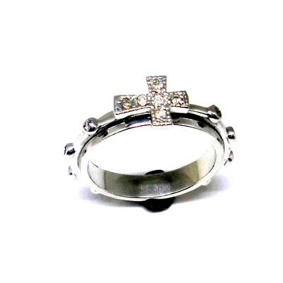 Catholic Rosary Ring (Spinning band) in 925 Silver by estherleejewel