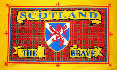 5' x 3' Scotland The Brave Flag Scottish Flags Banner