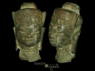 Post Medieval Indian Hindu Divinity Bronze Bust 008311