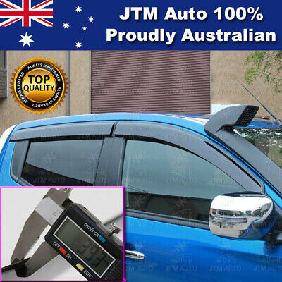 Injection Triton MQ Weather Shields Window Visors Weathershields + BADGE 14-17