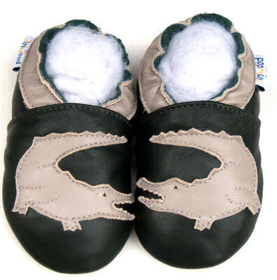 Soft Sole Leather Baby Infant Toddler Kid Boy Girl ClassicBrown Fur Shoes 0-6M