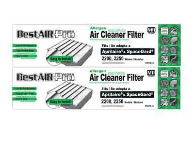 2 Replacement Filters Aprilaire 201 SpaceGard 2200 2250