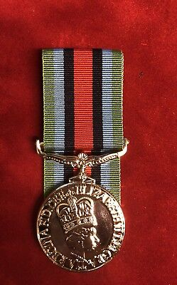 """Full Size Operational Service Medal Sierra Leone Comes With 10"""" Ribbon - Copy"""