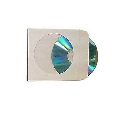 500 Paper CD DVD R CDR Sleeve Window Flap Envelope New