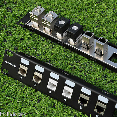"24 Port 1U Blank Modular Patch Panel - 19"" Rack Mount"