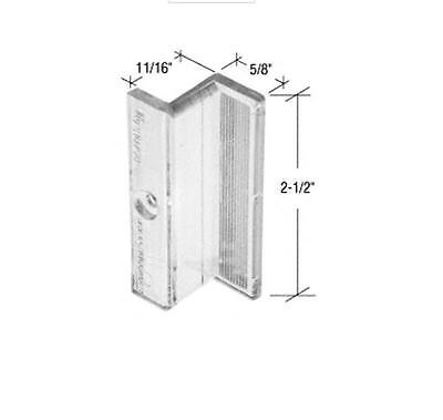 """Clear Plastic """"Z"""" Shaped Shower Door Pull Handle"""
