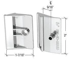 Plated Chrome Plastic Shower Door Pull Handle - Package