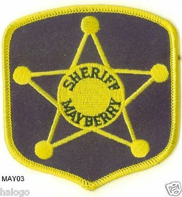Andy Griffith Black Mayberry Sheriff Patch  - May03