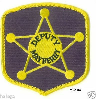 Andy Griffith Black Mayberry Deputy Patch  - May04