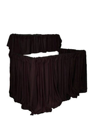 PROFESSIONAL MINISTRY ADJUSTABLE 2 TIER PUPPET STAGE BLACK CURTAINS