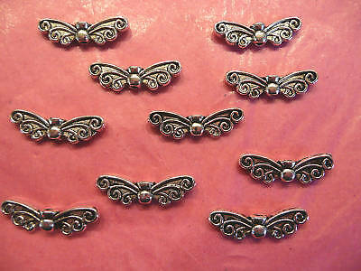 10//20//40 TIBETAN ANTIQUE SILVER ANGEL//DRAGONFLY WINGS SPACER BEADS