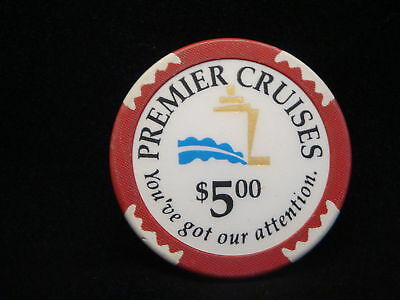 Premier Cruises $5 Casino Chip (THE BIG RED BOAT)  Mint