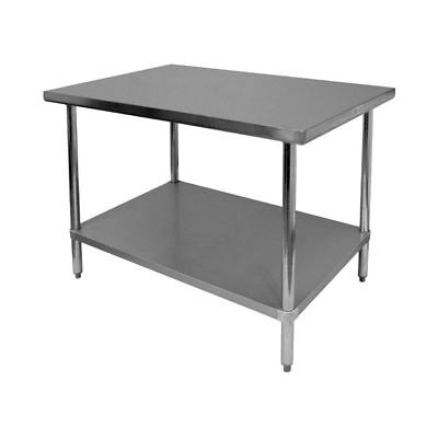 """All Stainless Steel Work Table 30""""x18"""" NSF - Flat Top"""