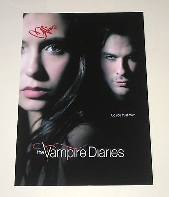 "The Vampire Diaries Pp Signed 12""x8"" Poster Nina Dobrev"