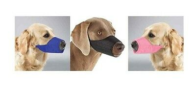 NYLON LINED MUZZLES for DOGS - 3 Colors - 9 Sizes - Soft Dog Muzzle Collection