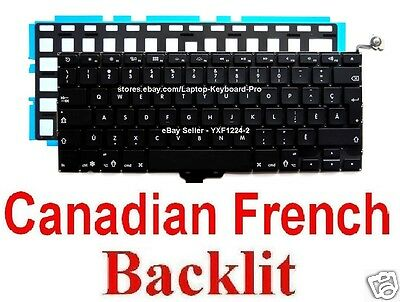 Keyboard for Apple MacBook Pro A1278 - CF Canadian French Backlit