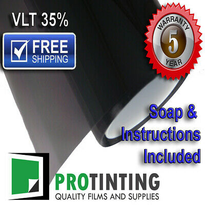 PREMIUM BLACK 35% Window tint 500mm wide 30m long 50cm x 30m Roll