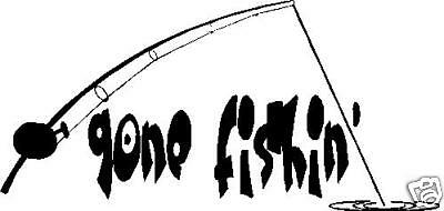 Gone Fishing Car Decal Sticker