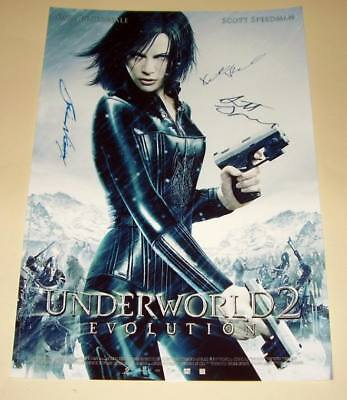 "Underworld 2: Evolution Cast X3 Pp Signed Poster 12""x8"""