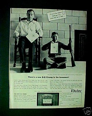 1964 Daisy BB Pump Gun Western Air Rifle Champ Dad & Son Paper AD
