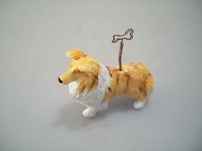 Blue Witch Picture/Note Holder - Rough Collie