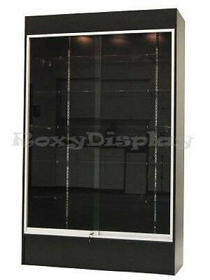 Wall Black Display Show Case Retail Store Fixture with Lights Knocked down #WC4B