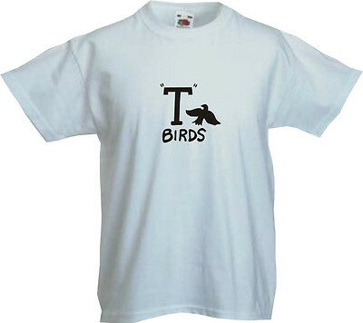 Grease T Birds Kids T Shirt - Assorted Colours Sizes