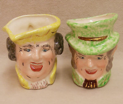 Lot 2 Unique Hand Made Vintage Character Profile Mugs