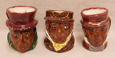 Lot 3 Unique Hand Made Vintage Character Profile Mugs